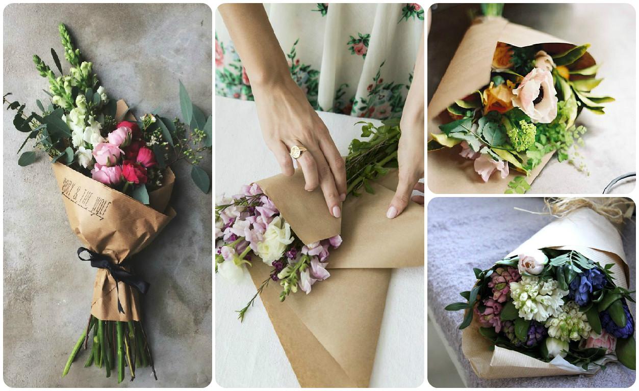 Варианты украшений цветочных букетов