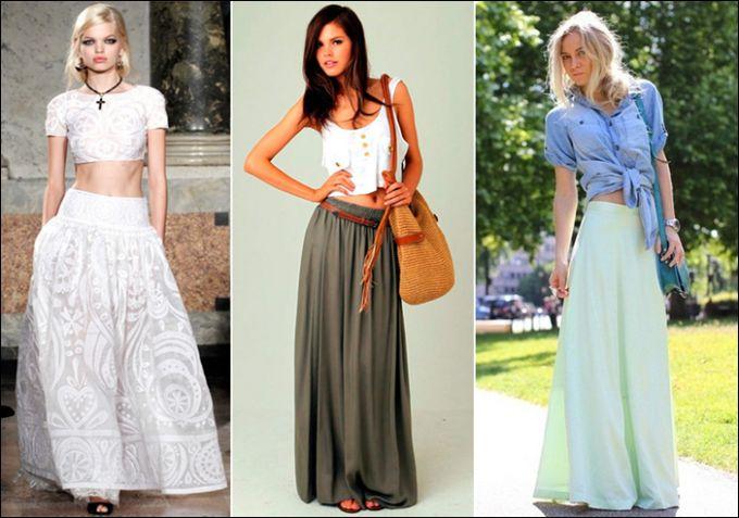 Длинная юбка: советы по подбору лучшего варианта в пол
