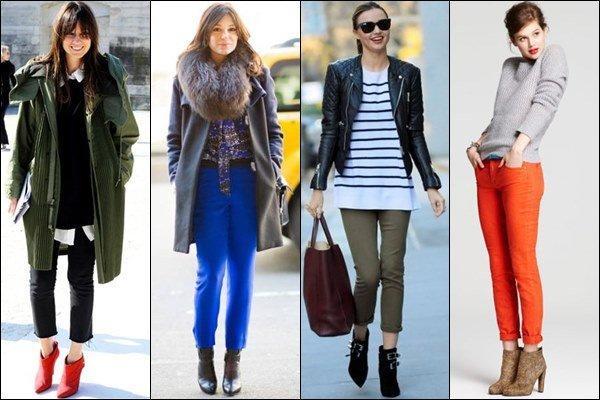 Какую обувь носить с укороченными брюками?