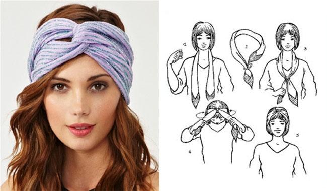 Как завязать платок на голове восьмеркой?