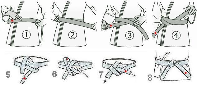 Как завязать пояс всамбо