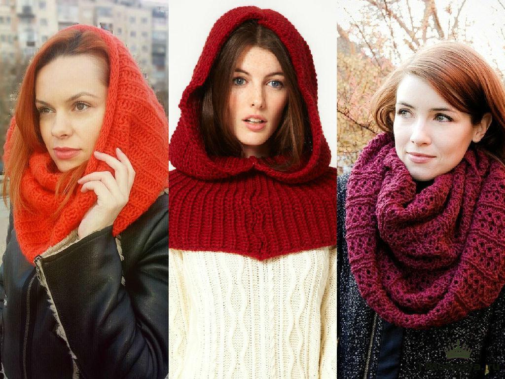 Как завязать шарф на куртку с капюшоном