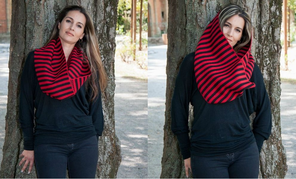 Как завязать шарф, спрятав концы?