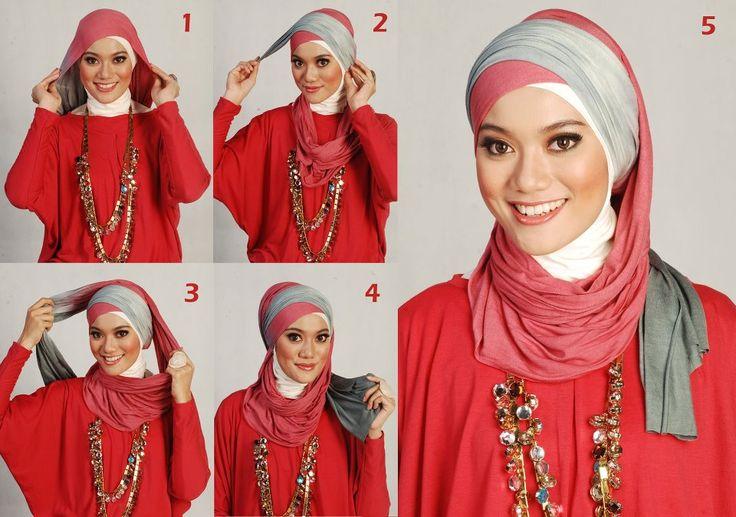 Как завязывать платок на голове по-мусульмански