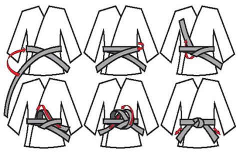Как завязывать пояс в айкидо