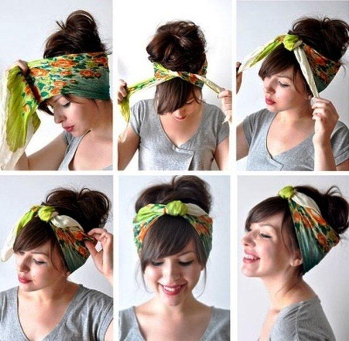 Как красиво завязать косынку на голове?