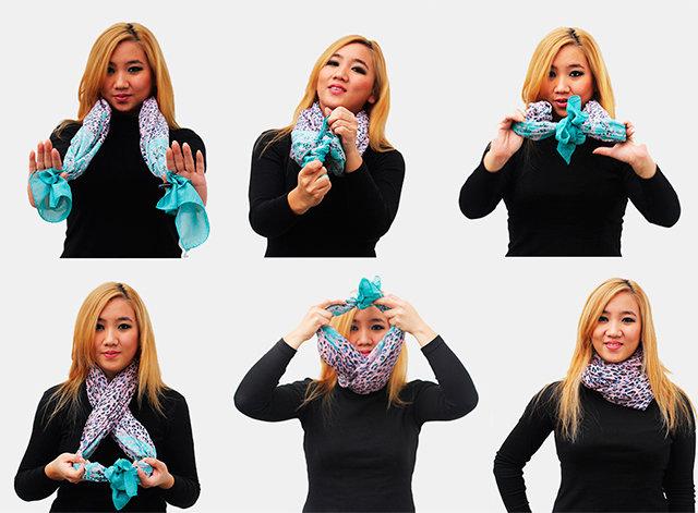 Как красиво завязать шарф на куртку