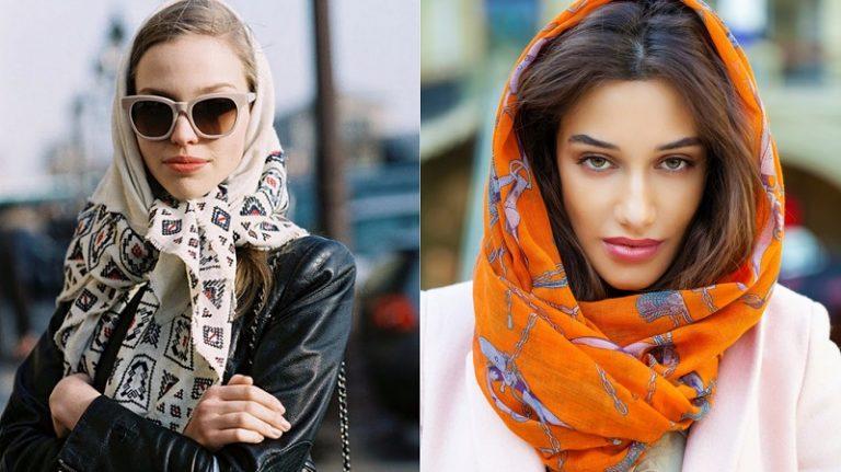 Как красиво носить платок
