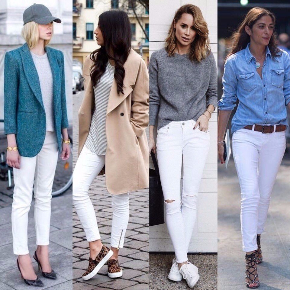 Как подобрать подходящие белые джинсы