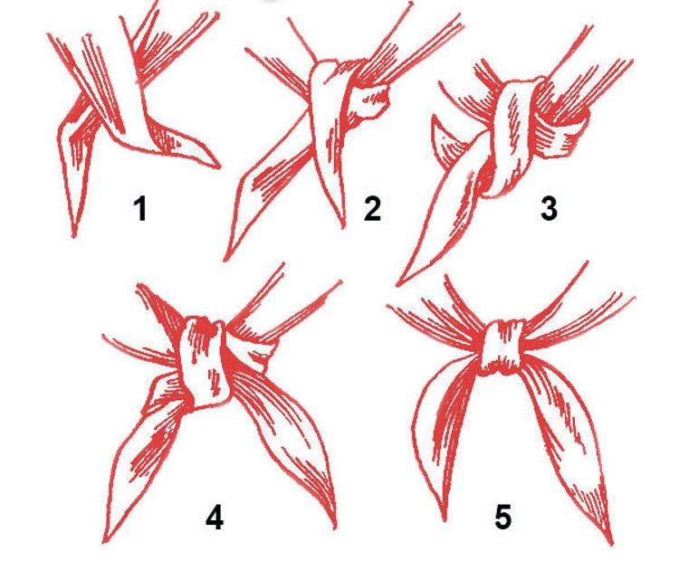 Как правильно завязать пионерский галстук