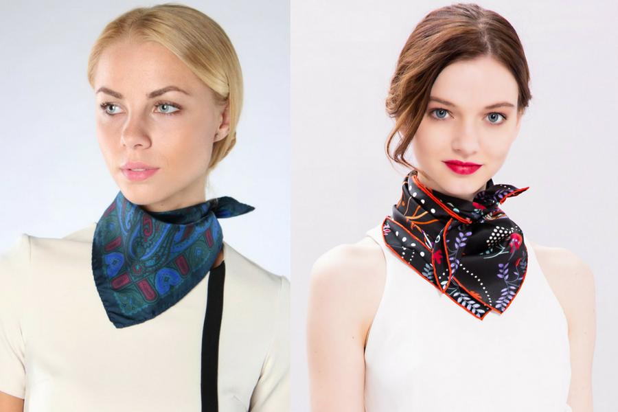 Как правильно завязывать платок на шею?