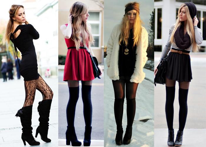 Как правильно носить чулки с платьем?