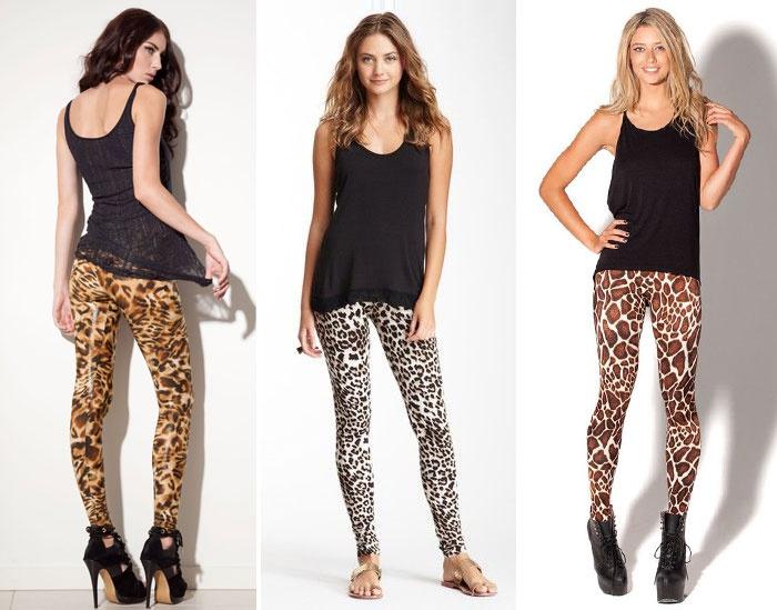 Леопардовые лосины – носим осторожно