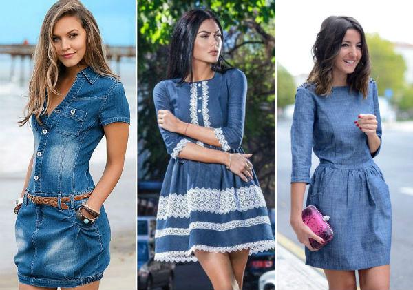 Лучшие фасоны джинсовых платьев 2018 года