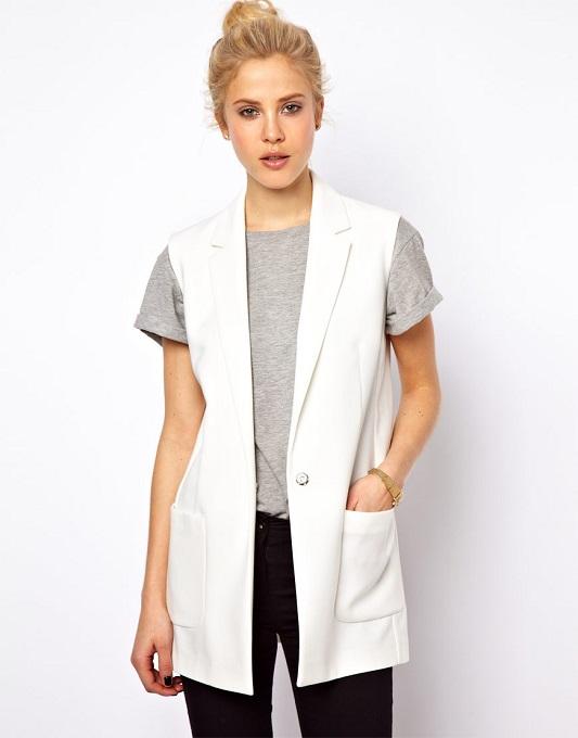 Модные ткани удлиненного жилета без рукавов