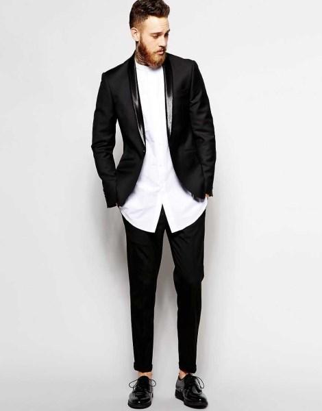 Модные черные мужские штаны