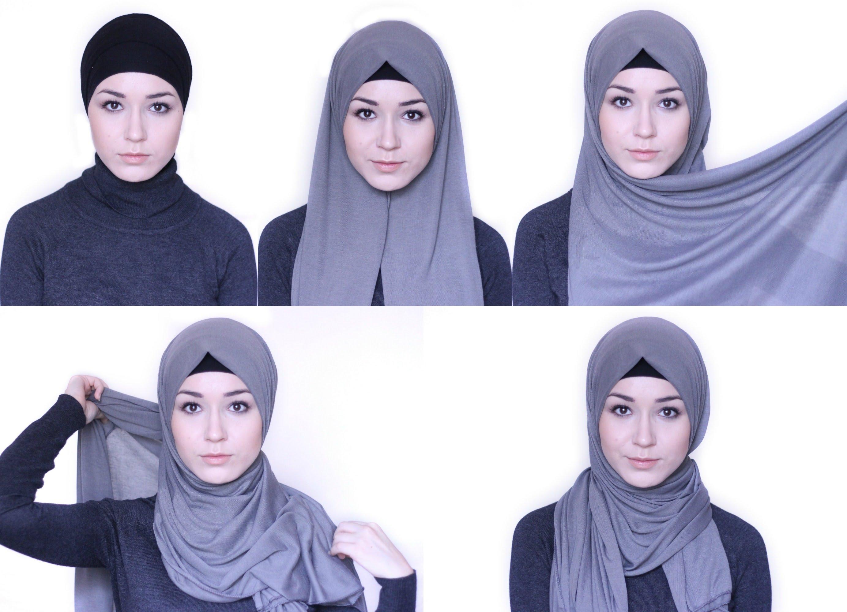 Несколько методов завязывания хиджаба