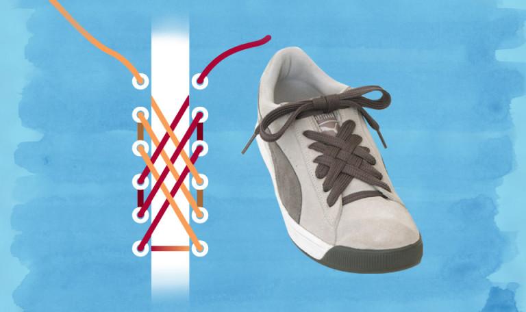 Основные виды шнуровки кроссовок и кед