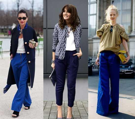Совет первый. С чем носитьтемно-синие женские брюки