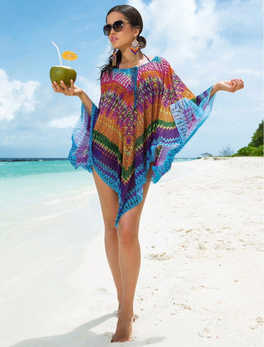 Создание пляжного платья из парео