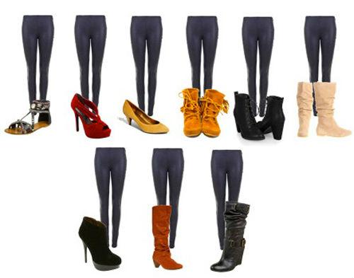 С какой обувью носить легинсы