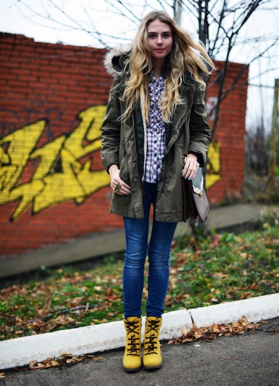 С какой обувью носить парку: стильные луки