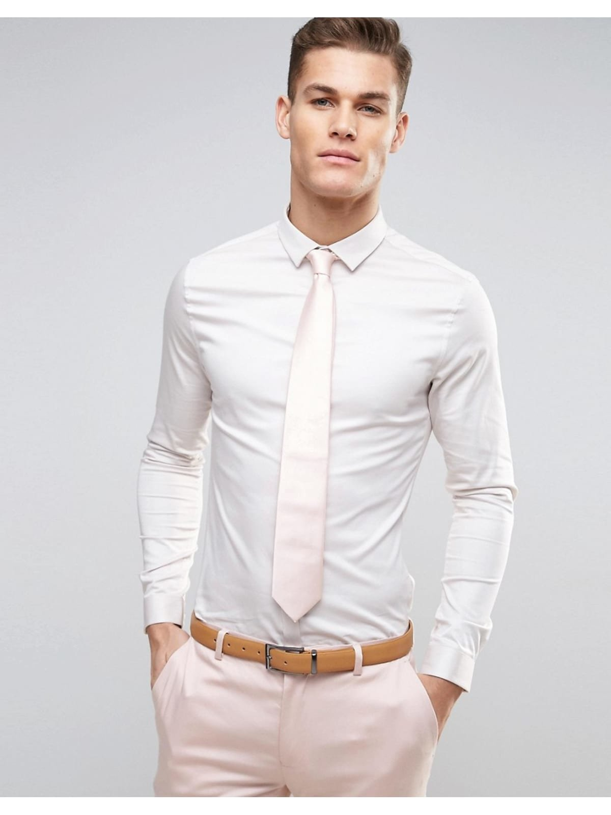 С чем можно носитьбелую рубашкумужскую?