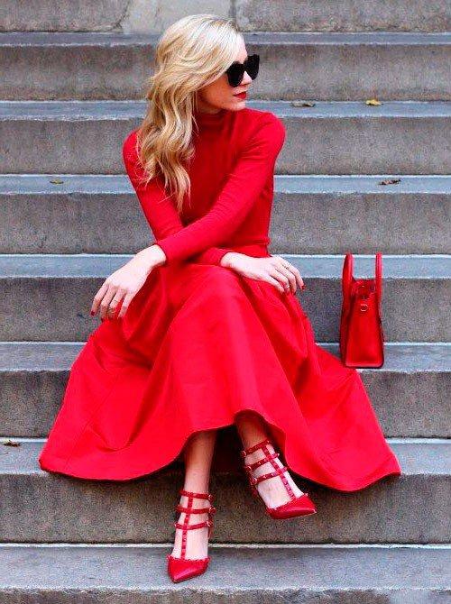 С чем нельзя сочетать красные туфли