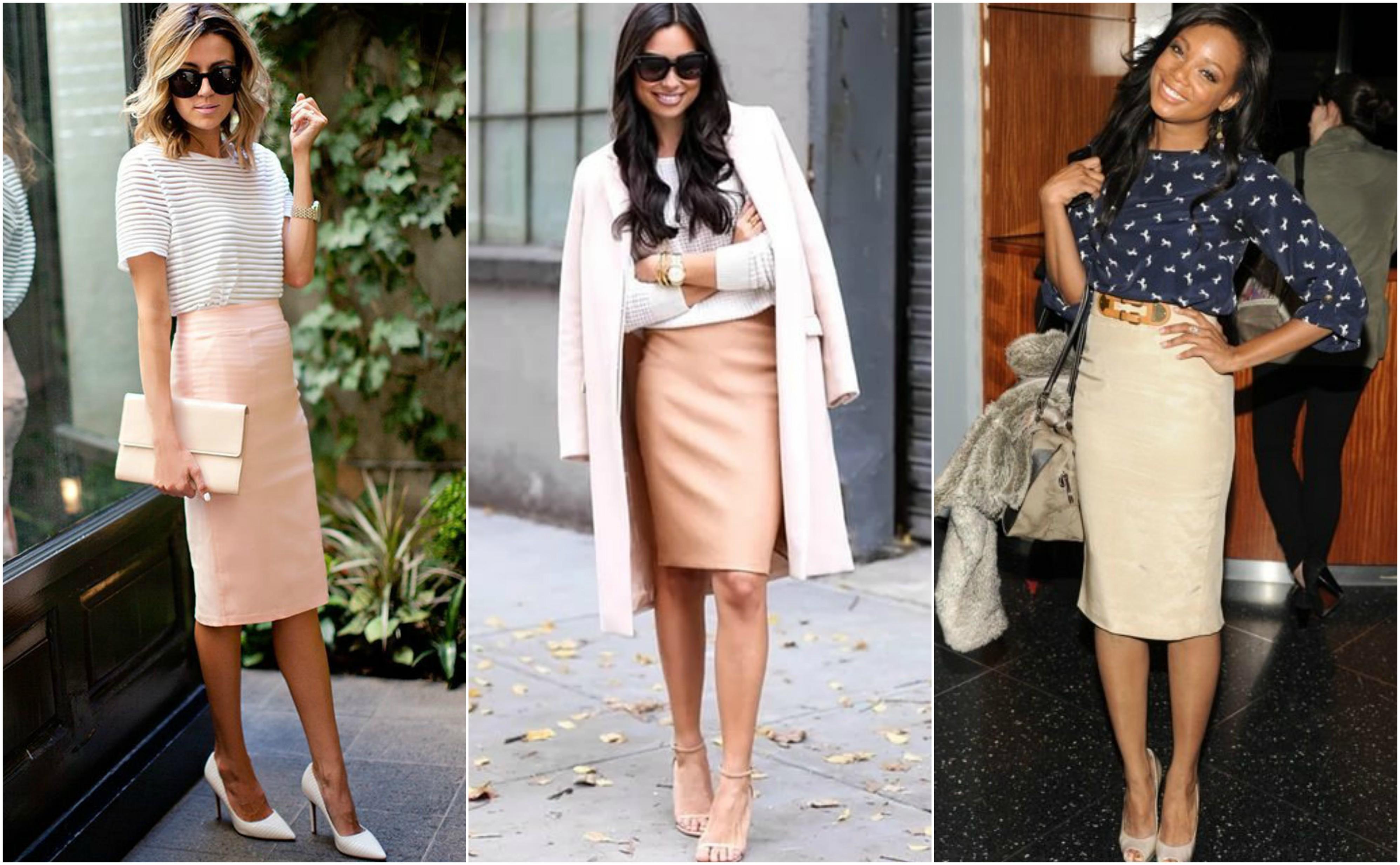 С чем носить бежевую юбку? Комплект «Нейтральный»