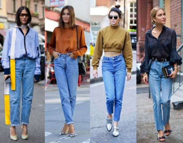 С чем носить джинсы-бананы
