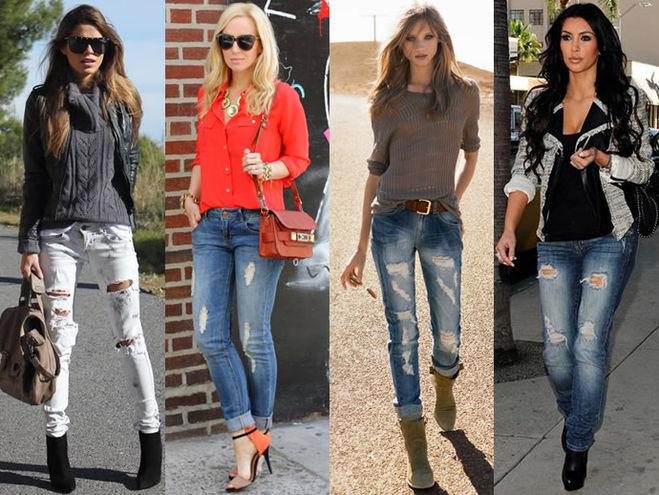 С чем носить джинсы?
