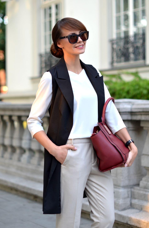 С чем носить жилет: деловой стиль