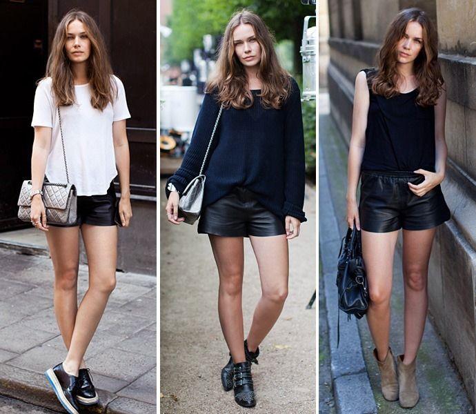 С чем носить кожаные, черные и классические шорты весной