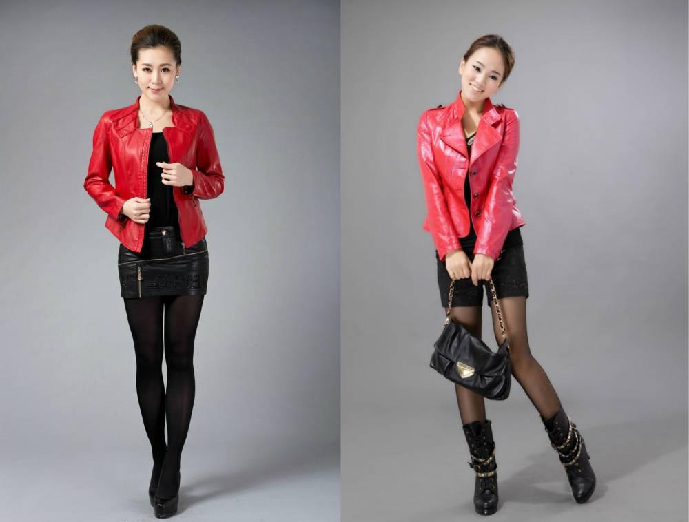 С чем носитькраснуюкожаную куртку