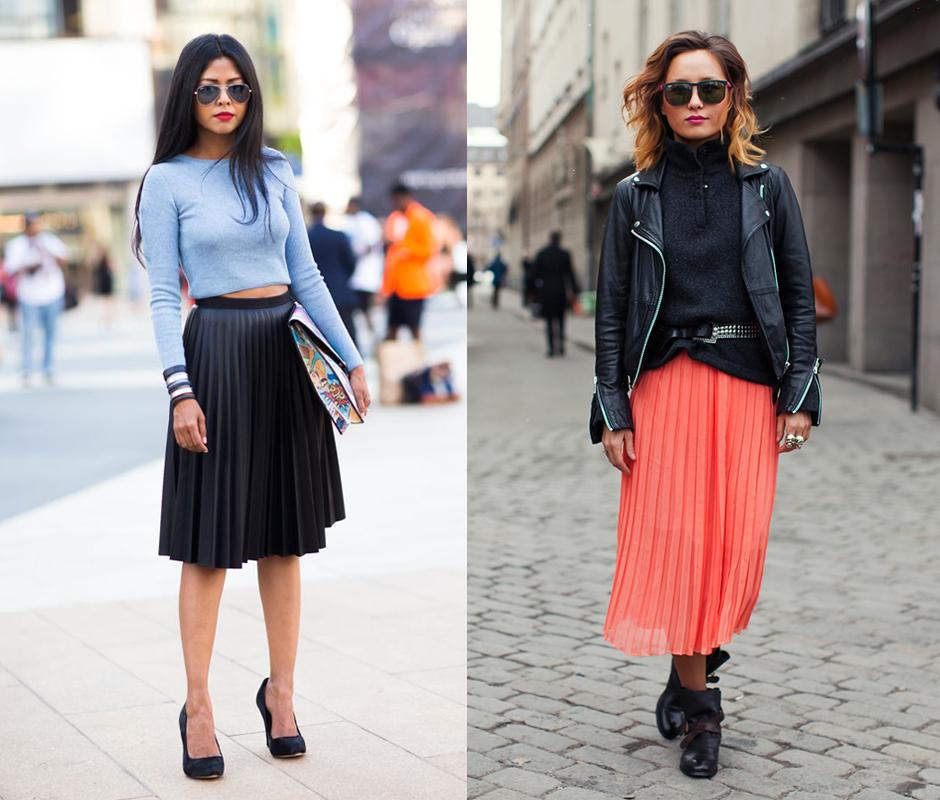 С чем носить плиссированную юбку в зависимости от ее длины?