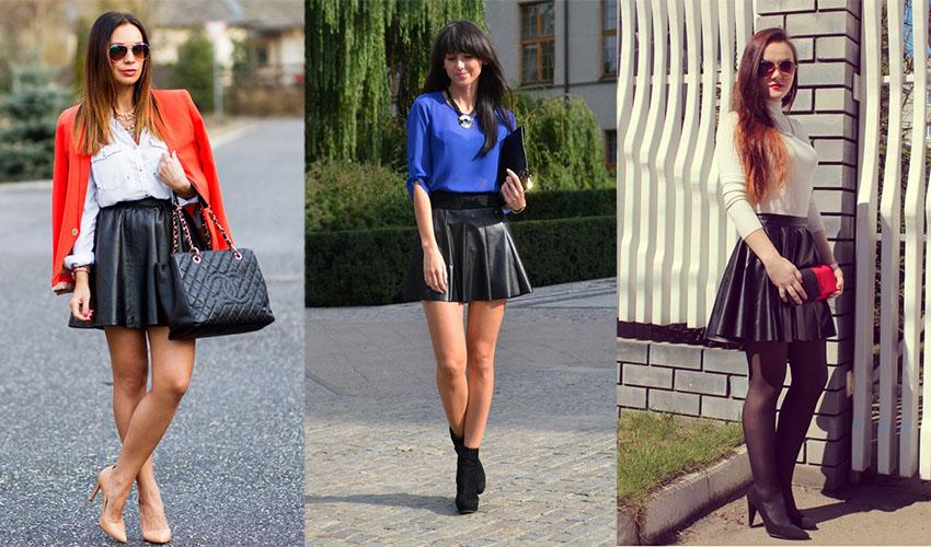 С чем носить черную юбку-солнце