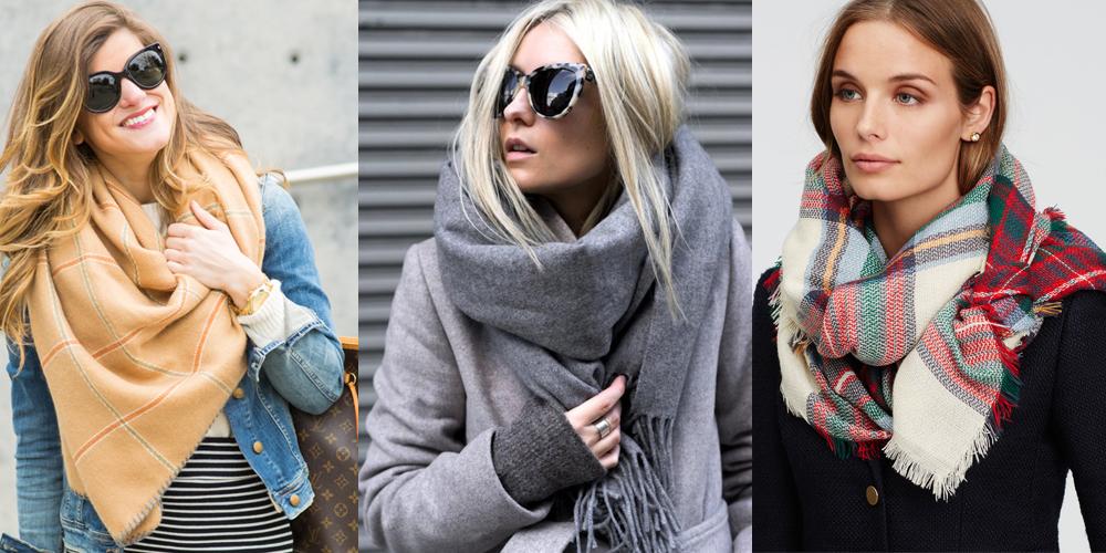 Учимся завязывать шарф на пальто