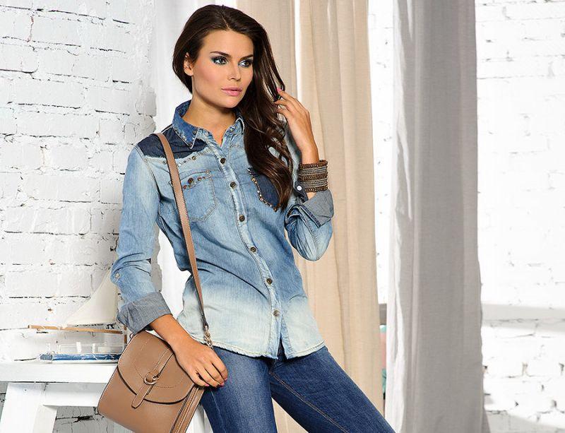 Фасоны джинсовых рубашек для женщин