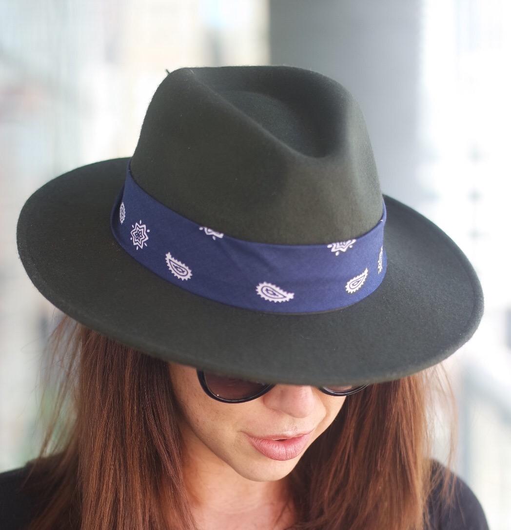 Бандана на шляпе